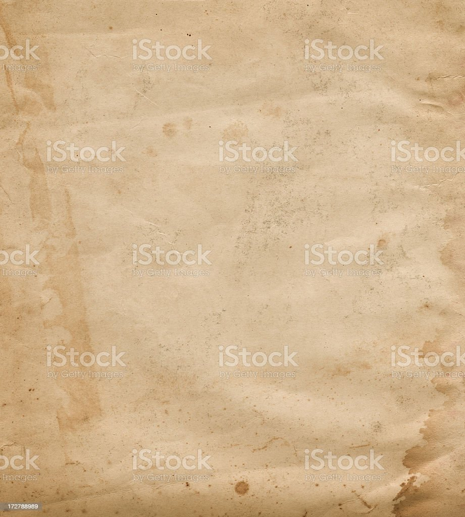 old worn paper with stain stock photo