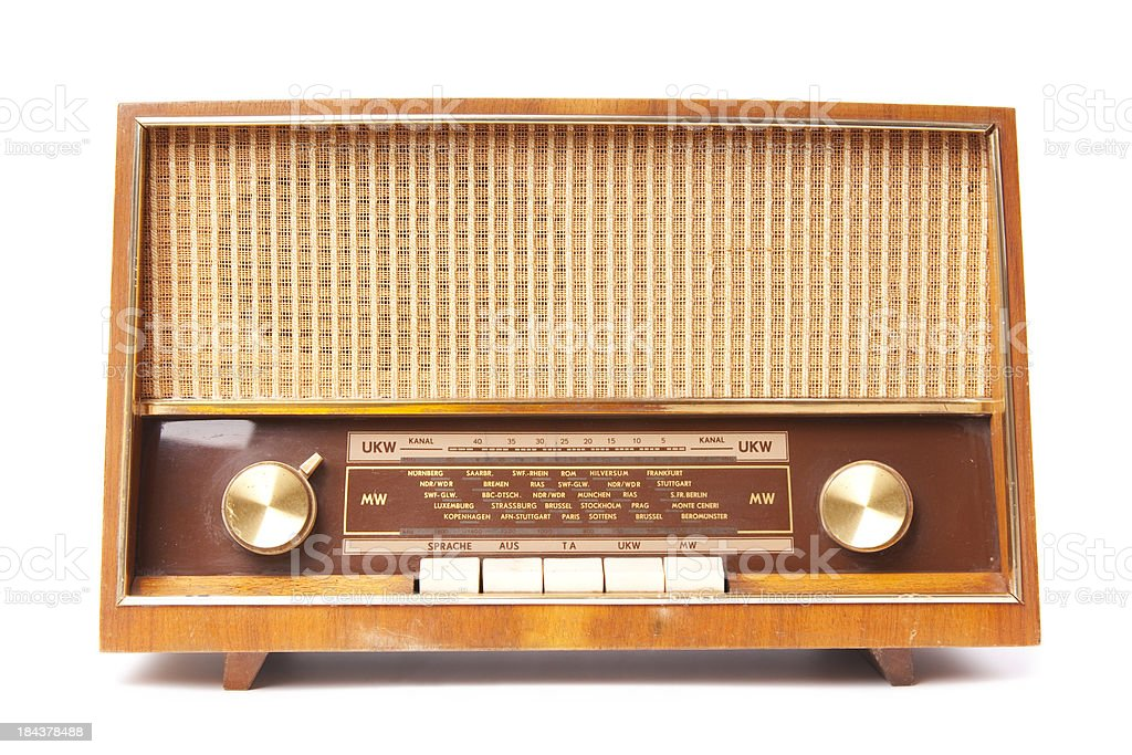 Old worn radio royalty-free stock photo