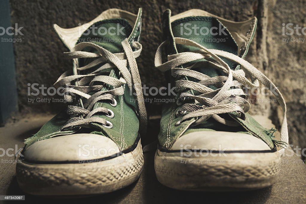 Old Worn Shoes stock photo