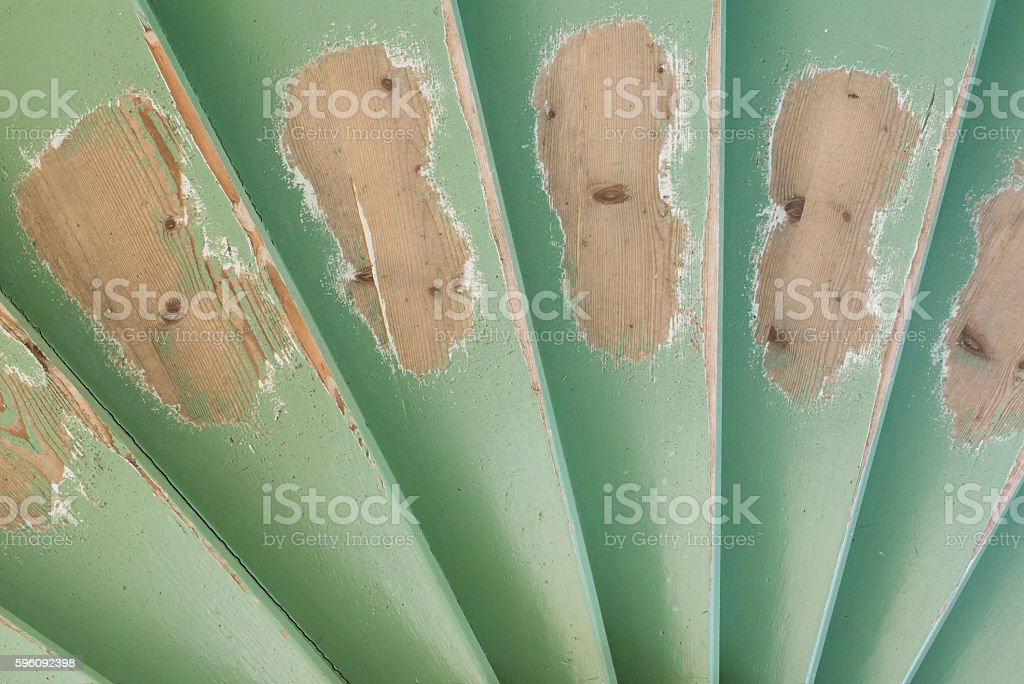 Old worn staircase made of wood royalty-free stock photo