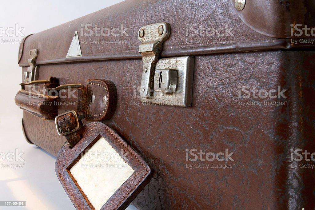 Old desgastado mala - foto de acervo