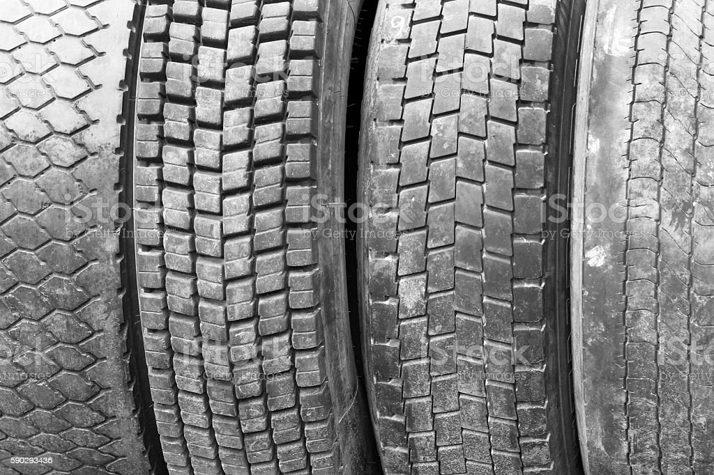 Old worn used car tires Стоковые фото Стоковая фотография