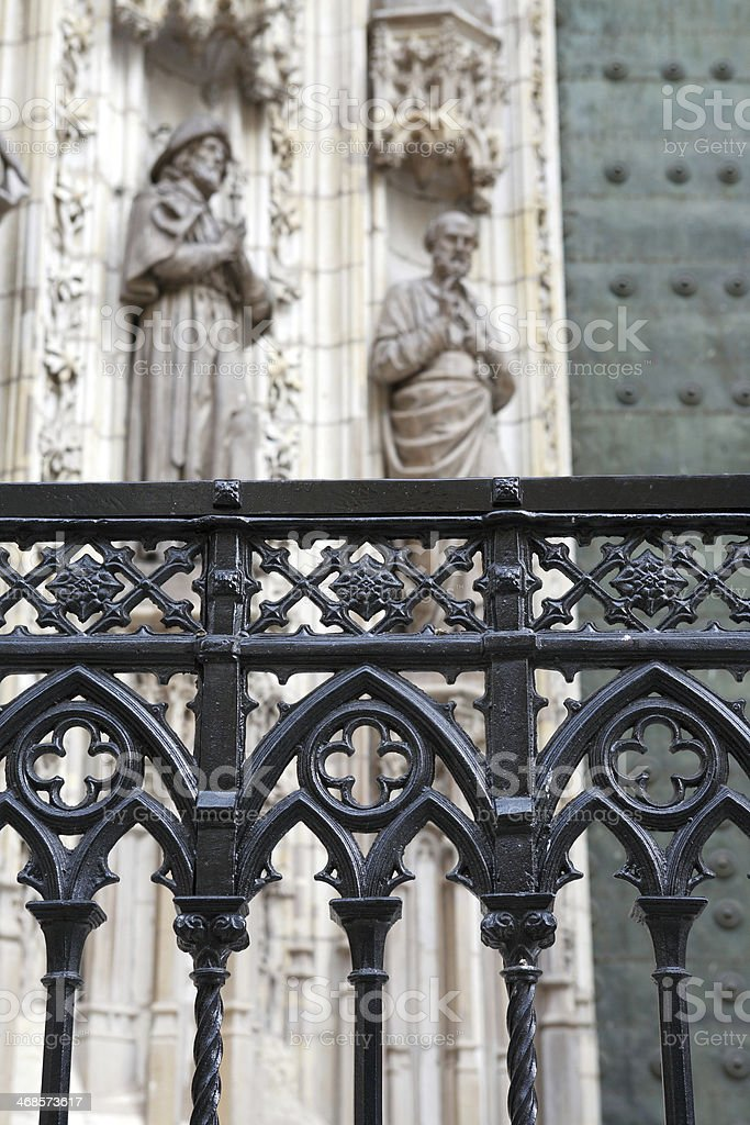 Old Wrought Fence royalty-free stock photo