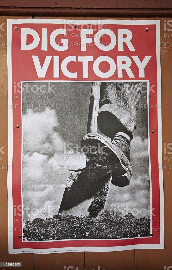 Old WW2 railway station poster stock photo