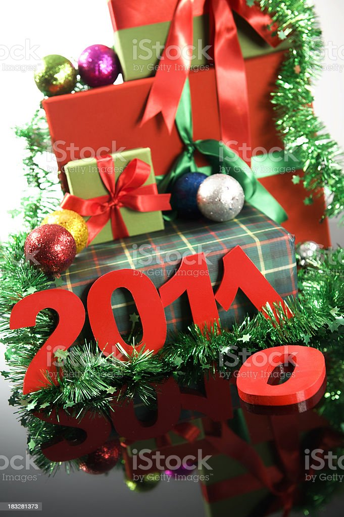 Old Year and New Year's royalty-free stock photo