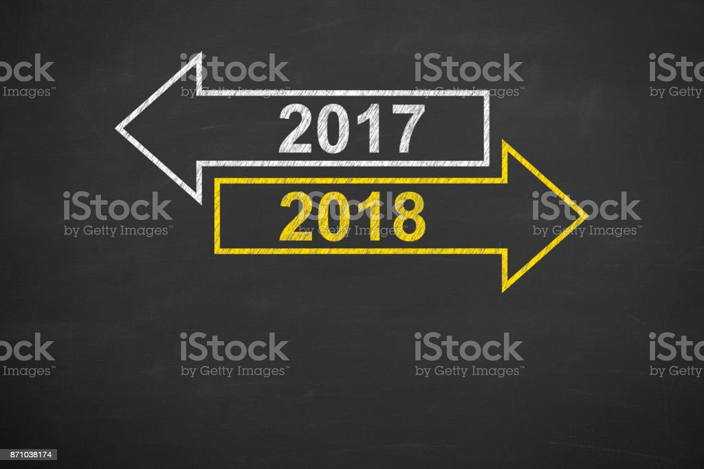 Old Year New On Chalkboard Royalty Free Stock Photo