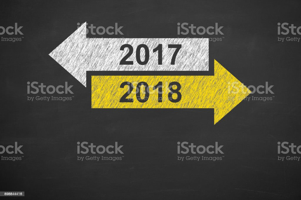 Old Year Or New 2018 Royalty Free Stock Photo