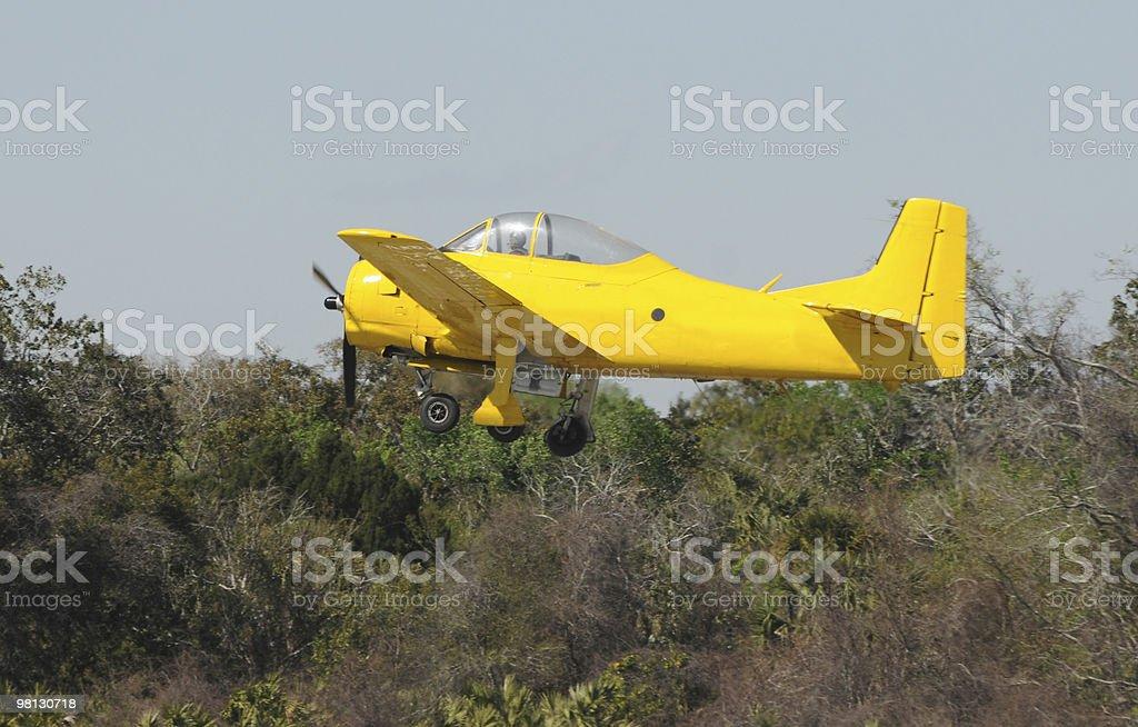 Vecchio aereo giallo foto stock royalty-free