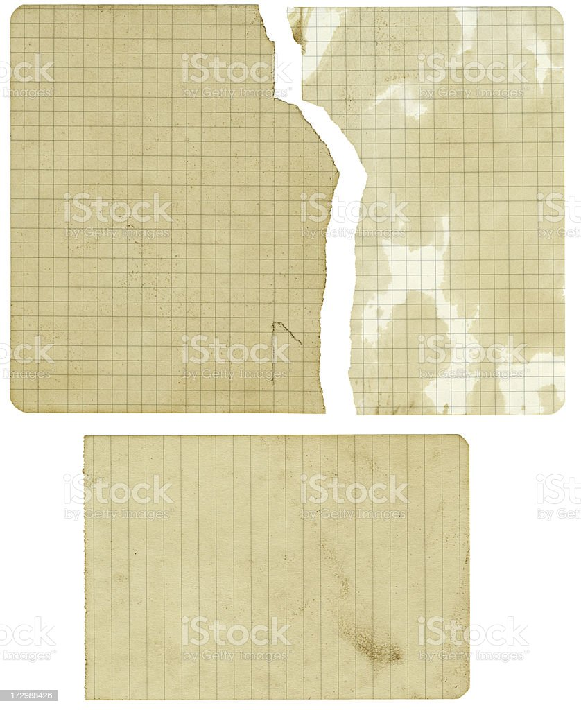 Old Yellow Line and Grid Paper royalty-free stock photo
