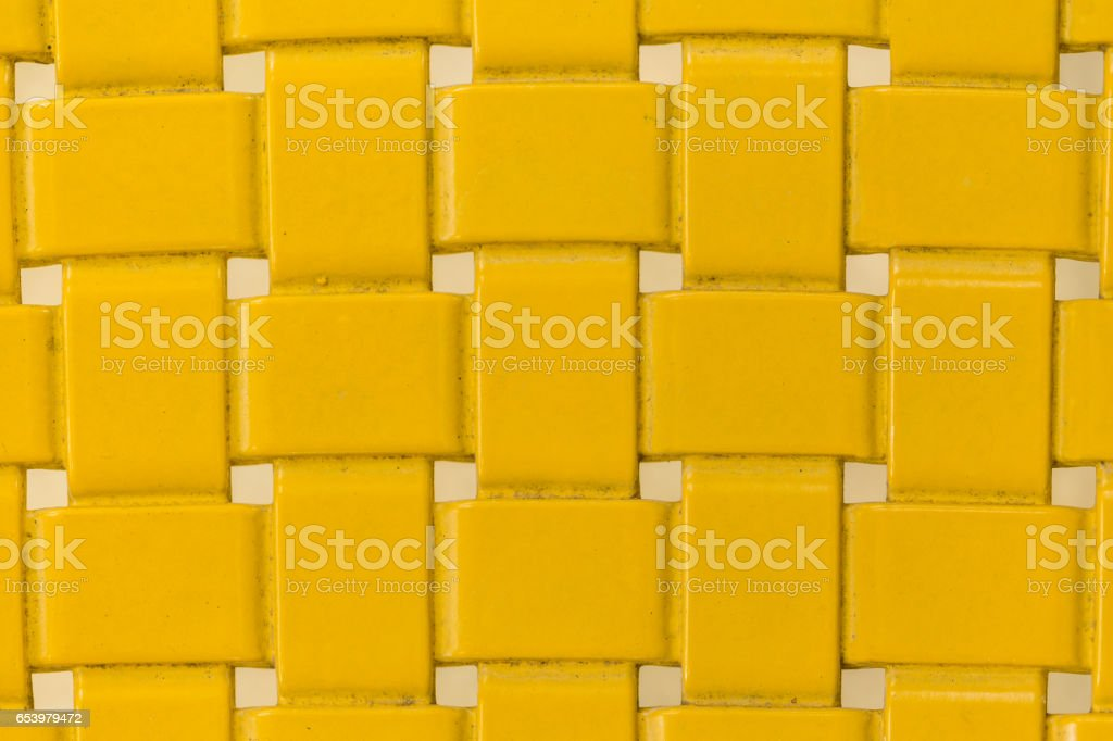 old Yellow Placemat, texture stock photo