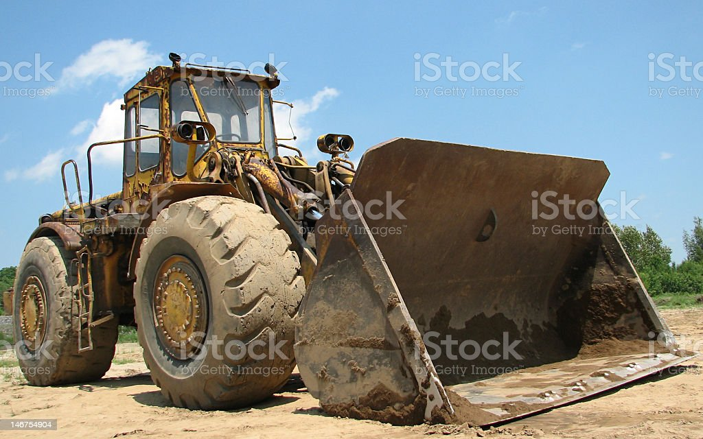old yellow p/loader royalty-free stock photo