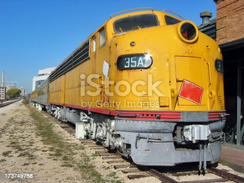 An old yellow train.