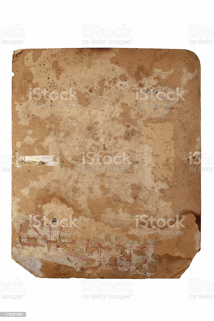 Old yellowed sheet of paper royalty-free stock photo
