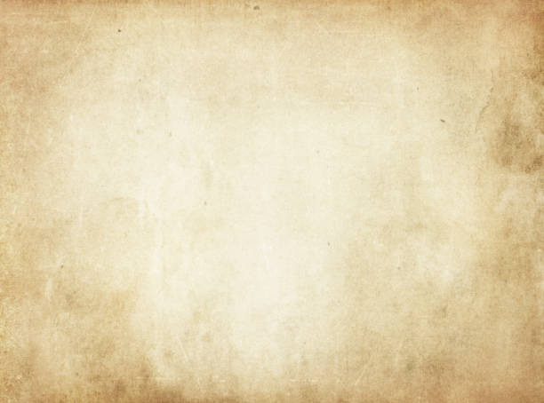 Old Yellowed Stained Paper Texture Stock Photo