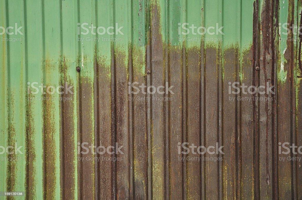 Old zinc fence background royalty-free stock photo