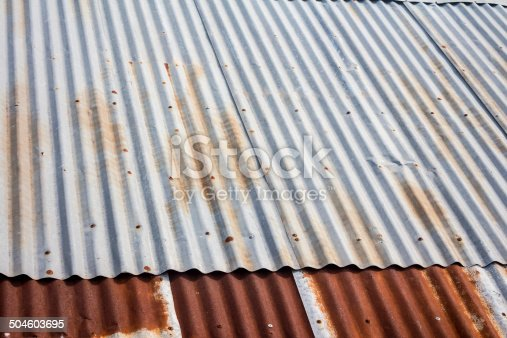 638964834istockphoto old zinc roof 504603695