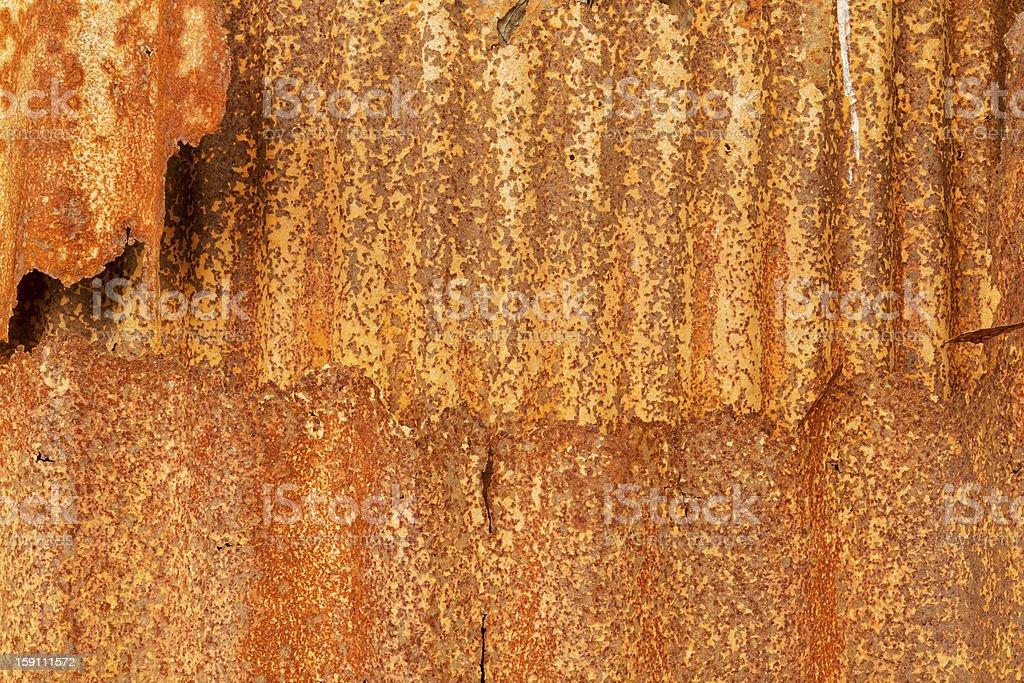 Old zinc rust wall. royalty-free stock photo