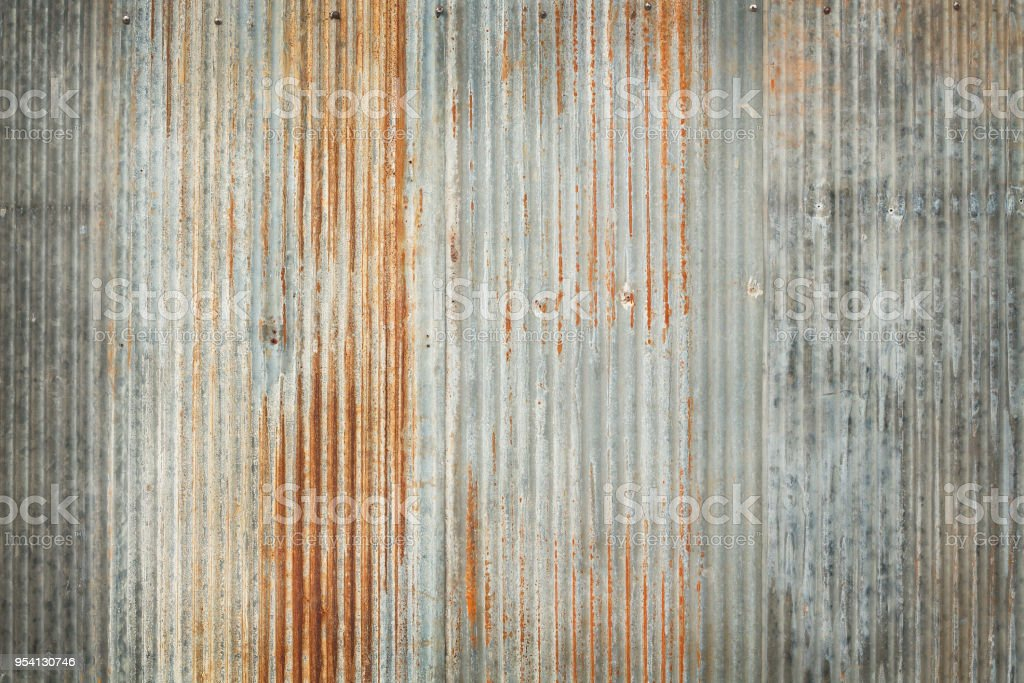 Antiguo zinc textura fondo, oxidado en la superficie de metal galvanizado. - foto de stock