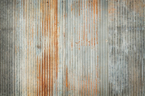 old zinc texture background, rusty on galvanized metal surface. - metal stock photos and pictures
