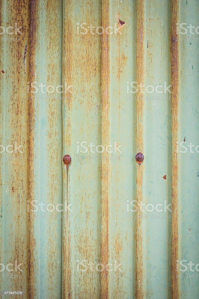 Old zinc wall royalty-free stock photo