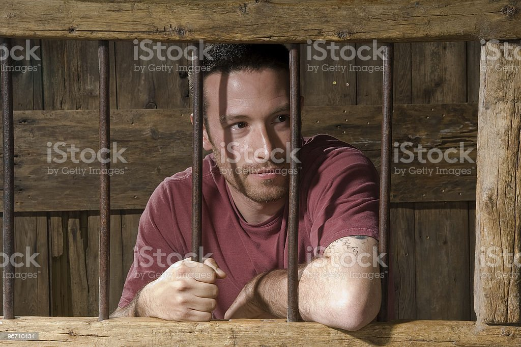 Olde Time Jail stock photo
