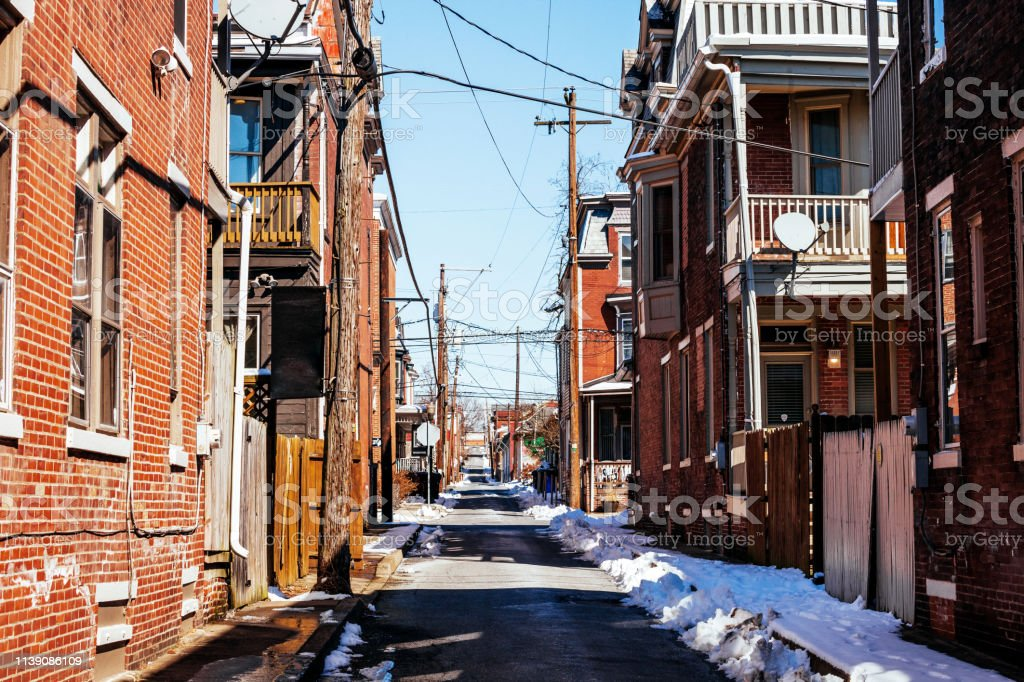 Olde Uptown district in Harrisburg, PA stock photo