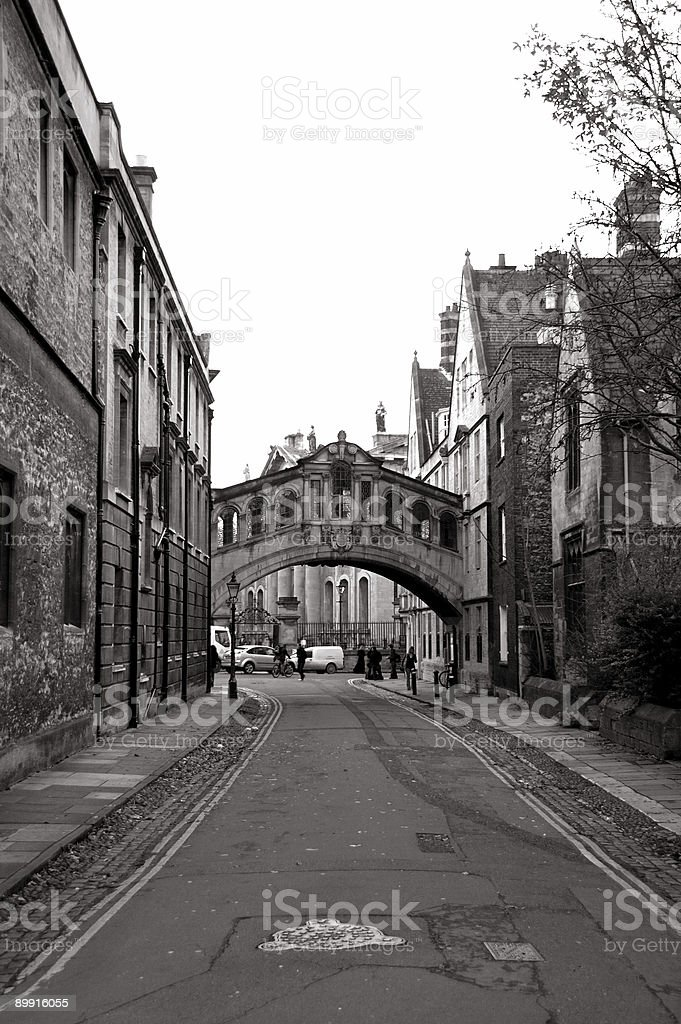 Olden street in Oxford, UK royalty-free stock photo