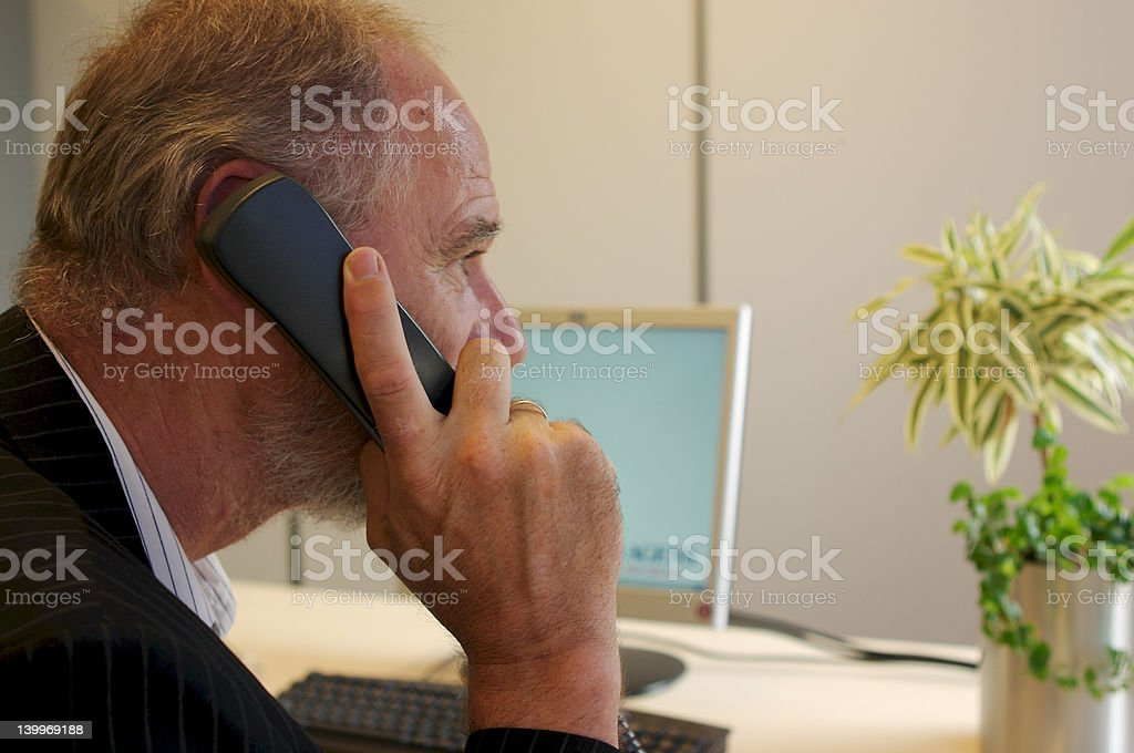 Older business man. stock photo