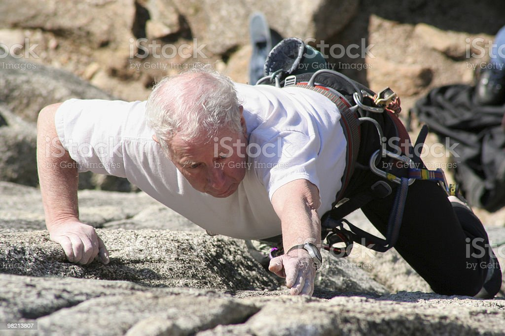 older climber royalty-free stock photo