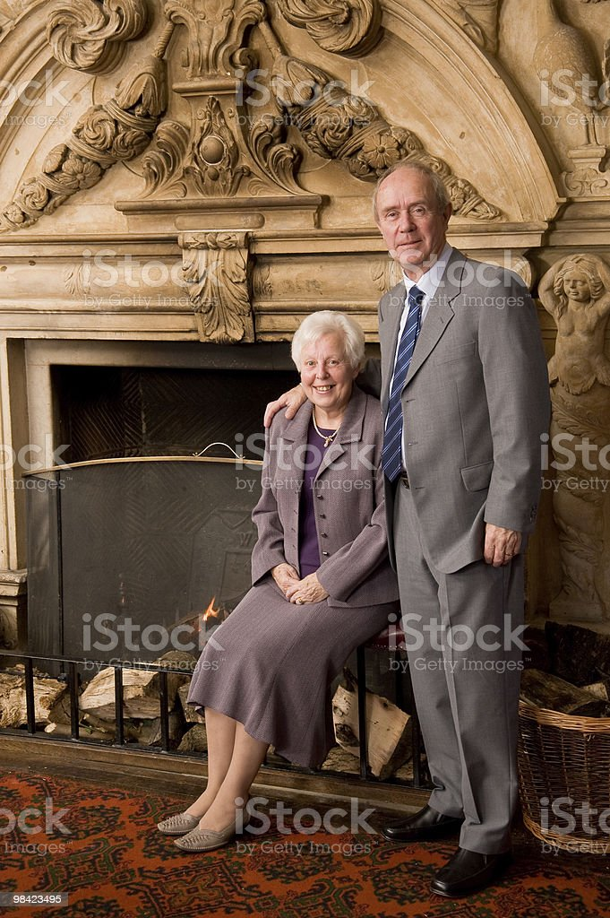 Older couple portrait royalty-free stock photo