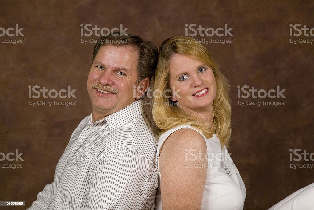 Older Couple Portraits Series royalty-free stock photo