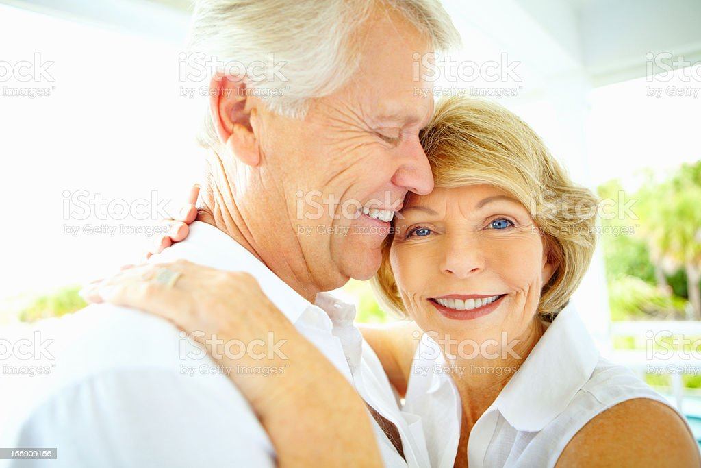 Older couple sharing a moment royalty-free stock photo
