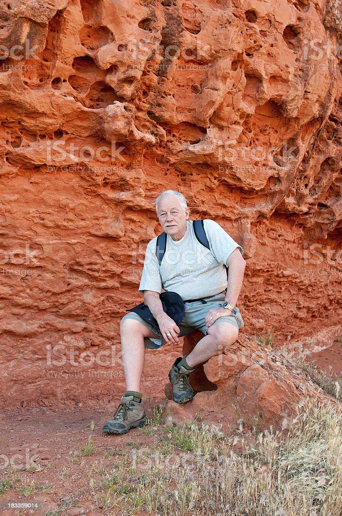 Older man on a hike in Utah - VI stock photo
