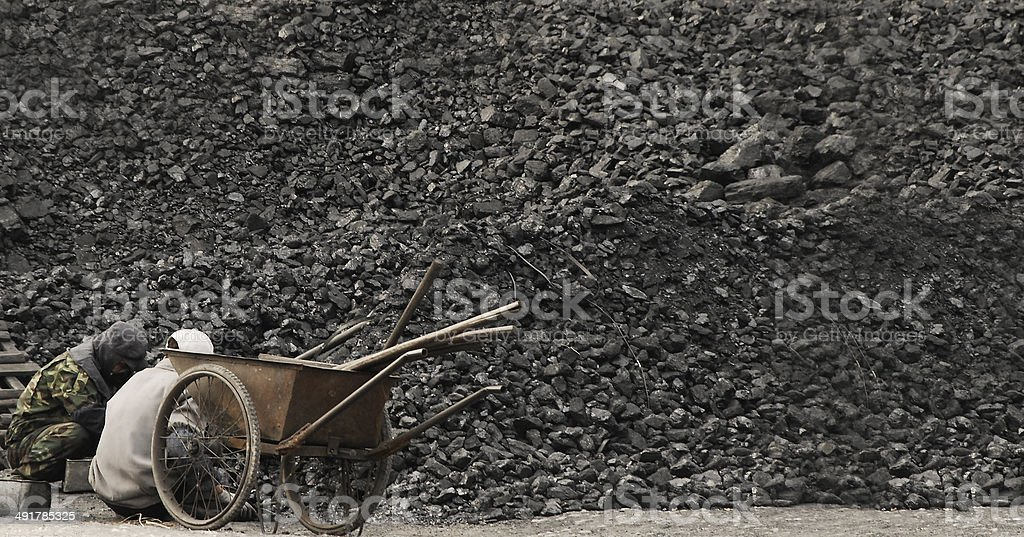 Older Men Working Hard in China - Royalty-free Adult Stock Photo