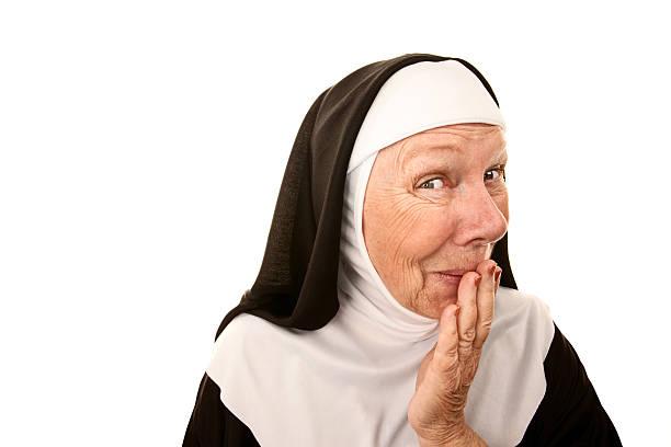 funny monja - hermana fotografías e imágenes de stock
