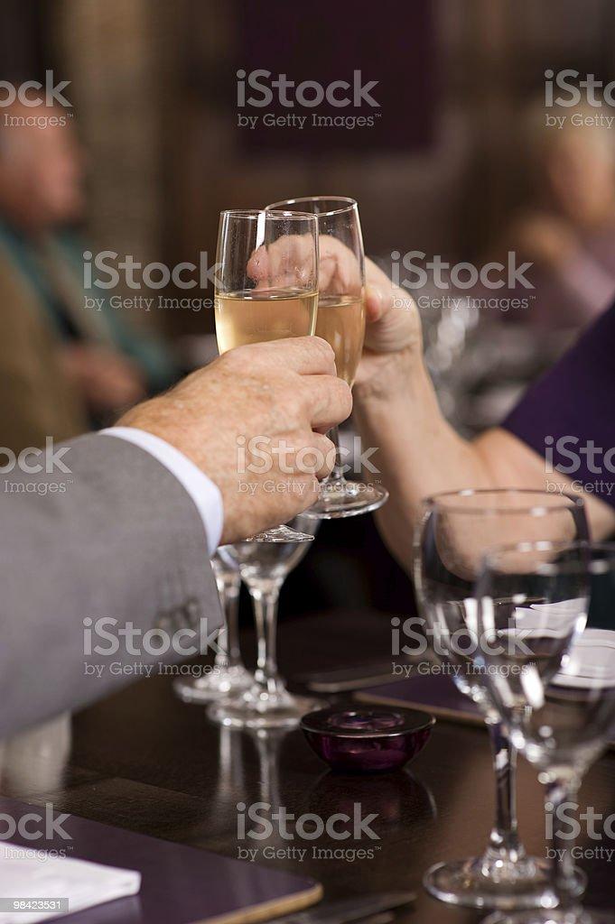 Anziani celebrazione foto stock royalty-free