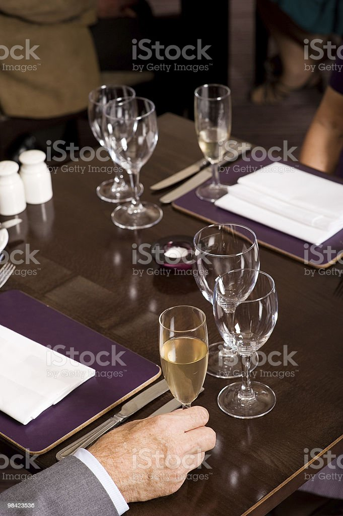 Older people celebration royalty-free stock photo