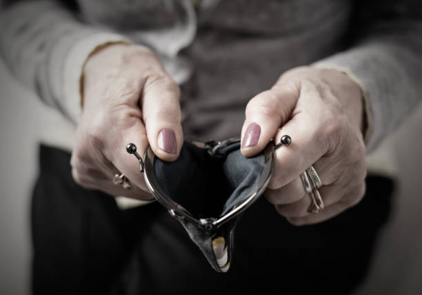 Older person holding money wallet open Older person holding money empty  wallet open empty wallet stock pictures, royalty-free photos & images