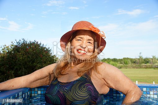 612839448 istock photo older women in the pool 1185898660