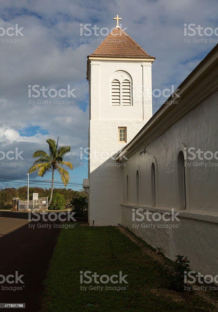 Oldest Catholic church on Kauai stock photo