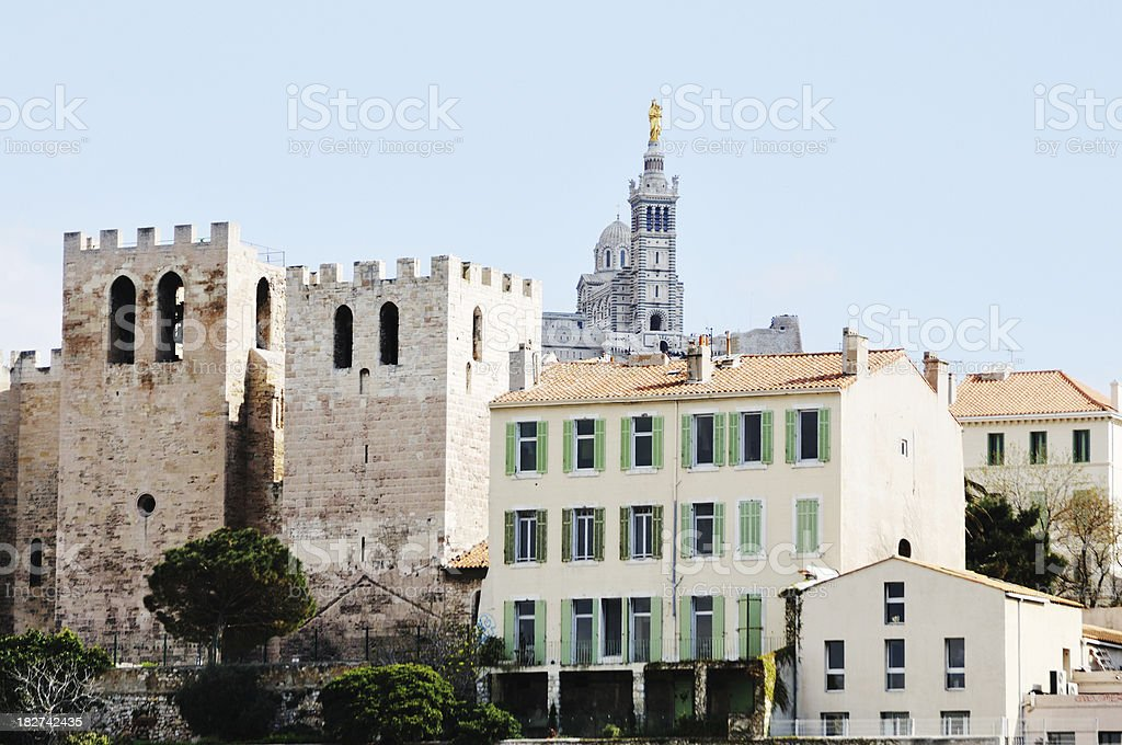 Oldest church in France, Marseille royalty-free stock photo