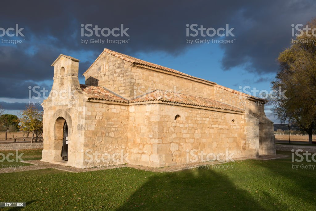 Oldest spanish church dated from seventh century, Palencia, Spain. stock photo