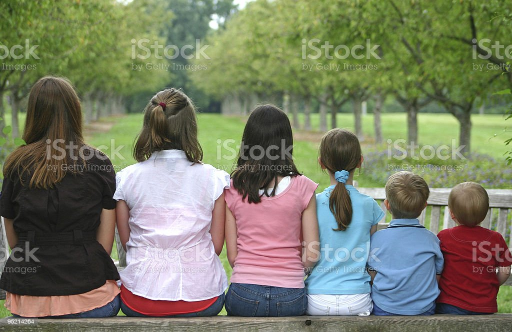 Oldest to Youngest stock photo
