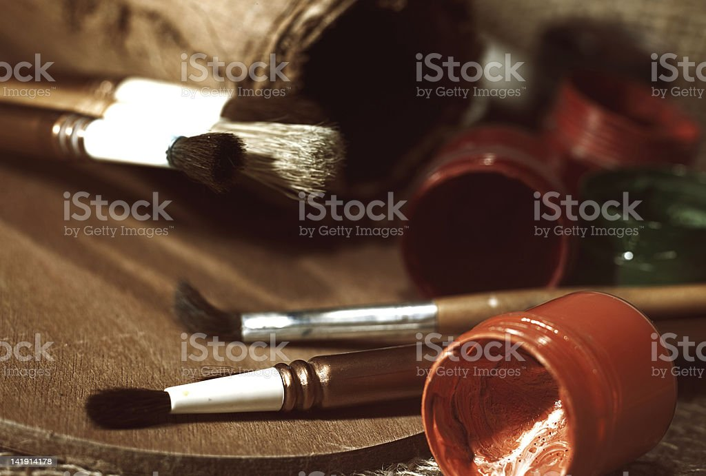 old-fashioned art still life royalty-free stock photo