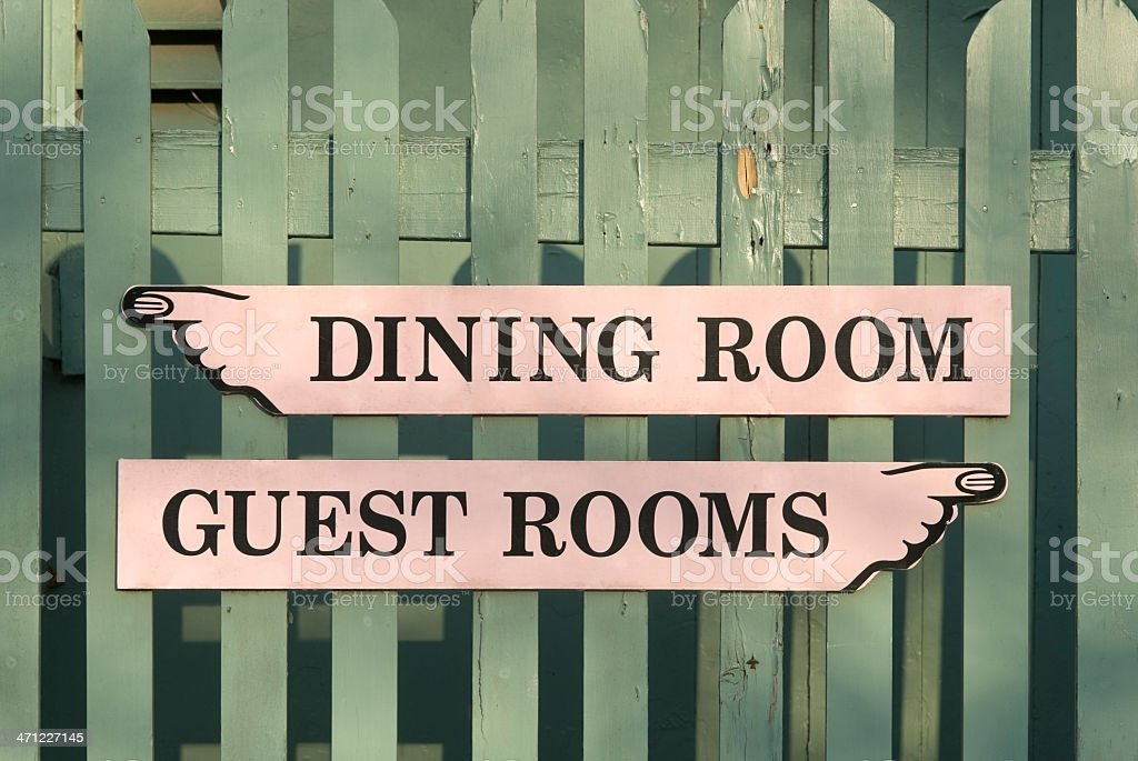 Old-fashioned Bed and Breakfast signs royalty-free stock photo