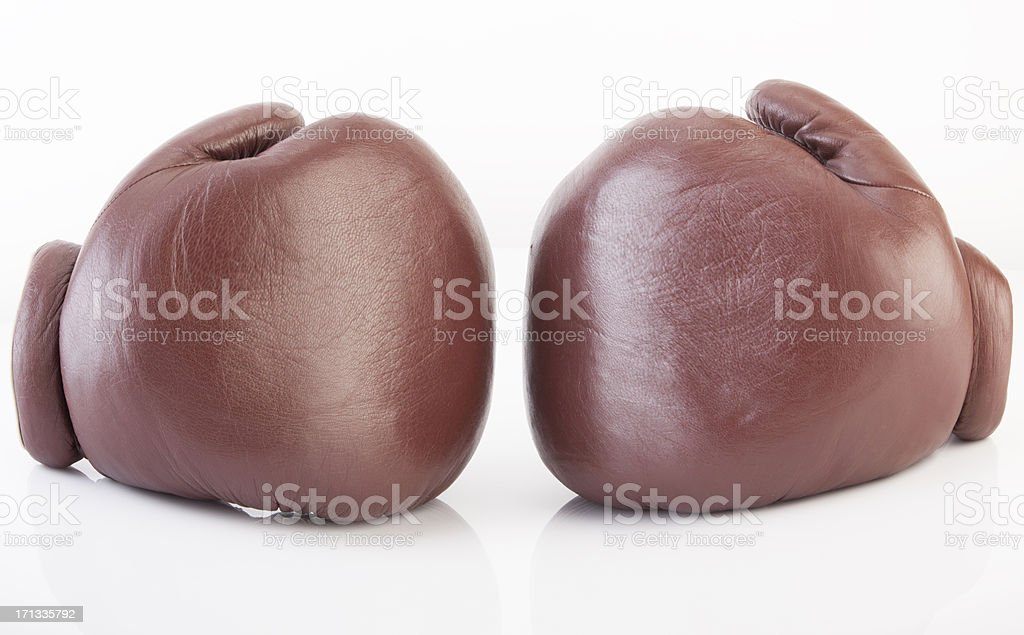 Old-fashioned Boxing Gloves royalty-free stock photo