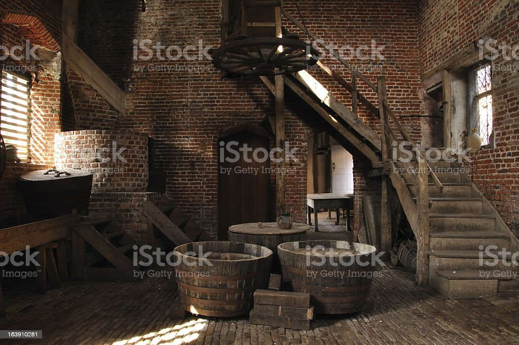 Old-fashioned brewery stock photo