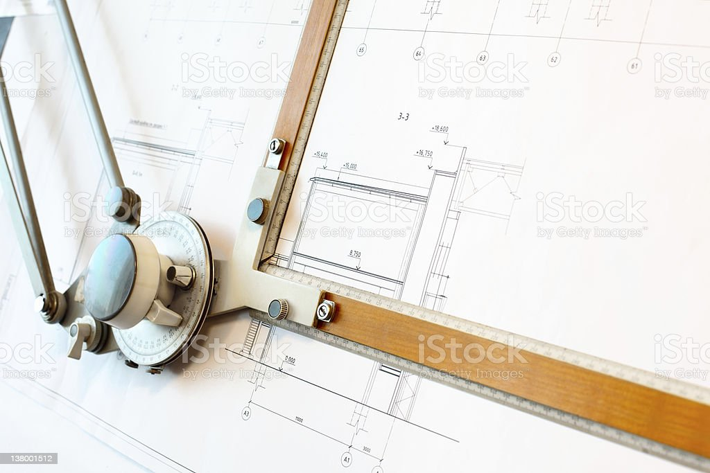 Oldfashioned dawing board with white project blueprint stock photo old fashioned dawing board with white project blueprint royalty free stock photo malvernweather Gallery