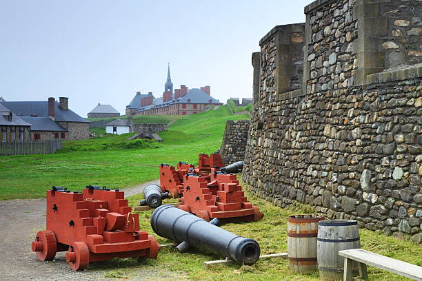 Old-fashioned fortifications stock photo