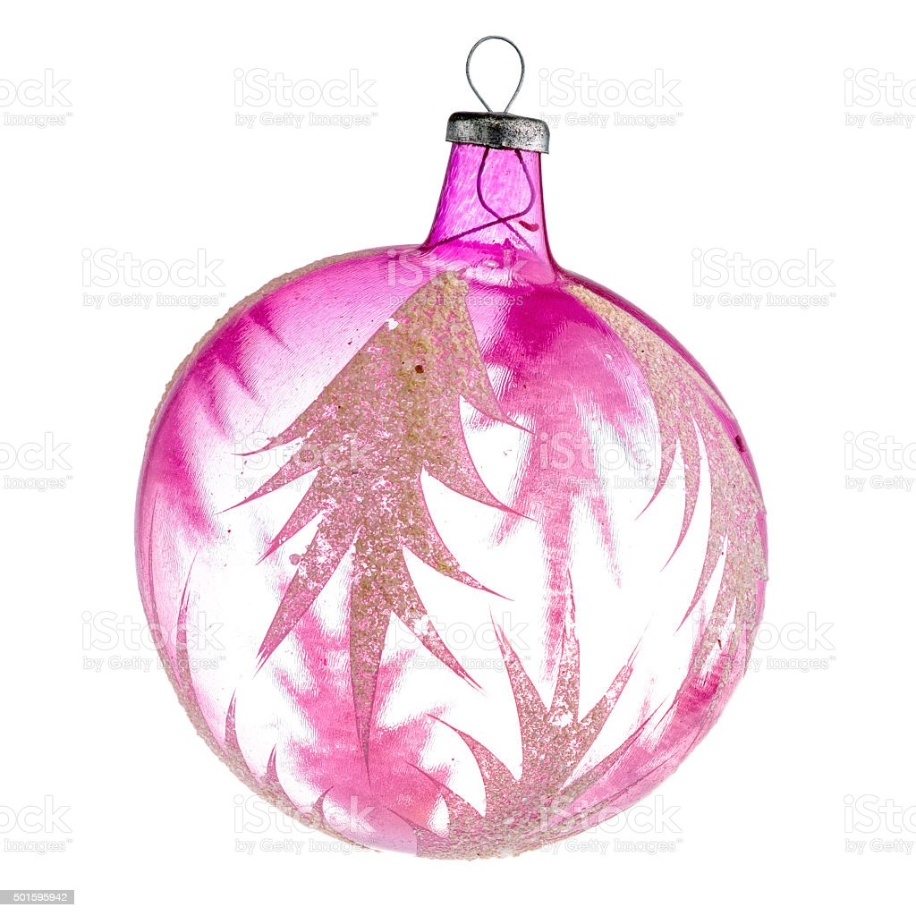 Oldfashioned Glass Ball With Ornament stock photo | iStock